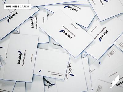 Business Cards business card design merch design inkbird minimal icon logo brand flat merch business card typography branding design