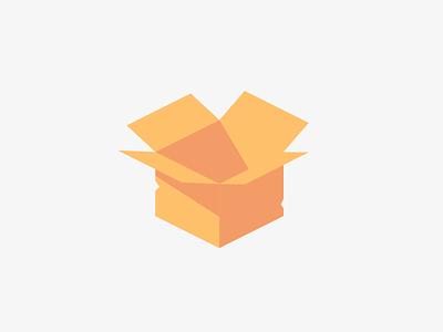 Box cardboard box packaging color illustration minimal cartoon pastel vector design simple flat