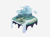 Unfinished Isometric Floating Island idea