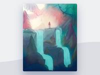 Waterfall Illustration