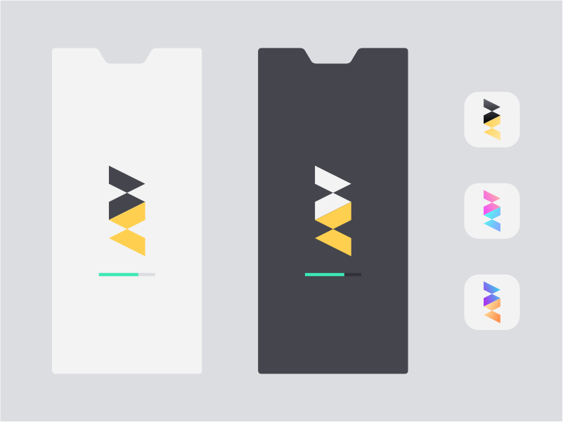 Hourglass App Designs dark ui light ui loading icons gradient minimal branding ux web app ui icon logo color vector design simple flat