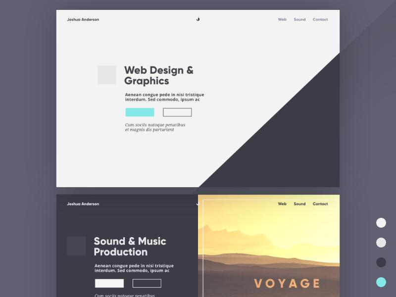 Portfolio Webpage Design artwork music graphics webdesign affinity designer lettering type minimal web ux typography ui icon logo branding illustration vector design simple flat
