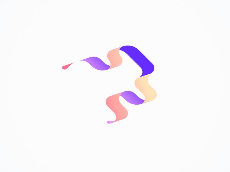 Affinity Iso Tools gradient design orange purple ripple water flow colorful gradient ribbon web app branding illustration pastel color vector design simple flat