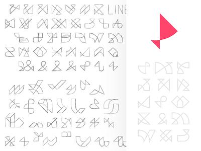 Icons I made for fun logodesign logo drafts red logos ui minimal icon logo branding color vector design flat simple