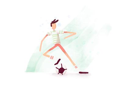 Soccer procreate procreate art minimal cartoon pastel illustration color design flat simple
