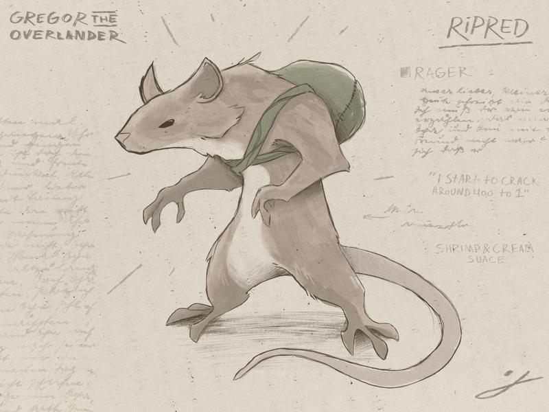 Ripred - Journal Design (From Gregor The Overlander)