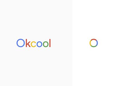 Okcool typogaphy ui icon logo branding pastel color vector flat design simple
