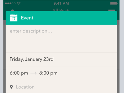 Posting Event to Company Messageboard iphone