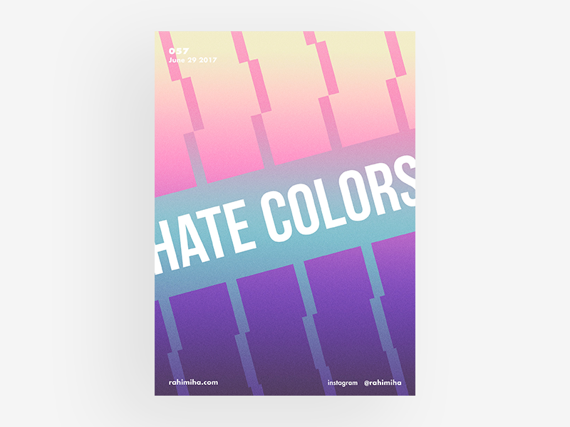 Day 057 daily graphic design poster gradient colorful futura box red isometric