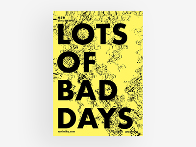 Day 058 daily graphic design poster gradient type black yellow