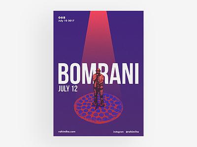 Day 068 daily graphic design poster music gradient light pizza pepperoni persian iran bomrani