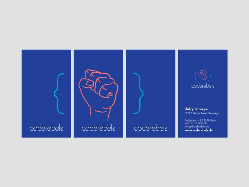 """Coderebels proposed """"Visual Identity"""" redesign pastel colors pastel minimal development code rebellion fist bussines card card stationary design stationery ci visual visual  identity"""