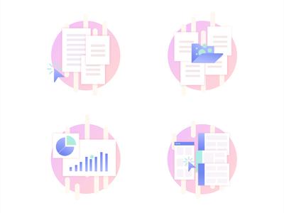 Placeholder icon set vector custom gradient illustration design ui ux