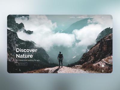 Planetos Home page Website website uiux design homepage home landign page design interaction ux ui