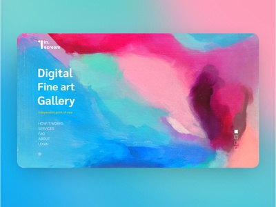 in. Scream UI Home Page color website gradient custom app ux design ui web  design home page homepage