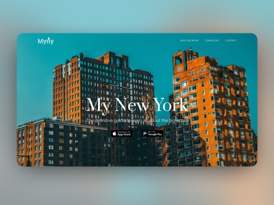 Myny UI Landing Page website concept web layout landing page design landing page concept website web  design landing page interaction custom ui design ux