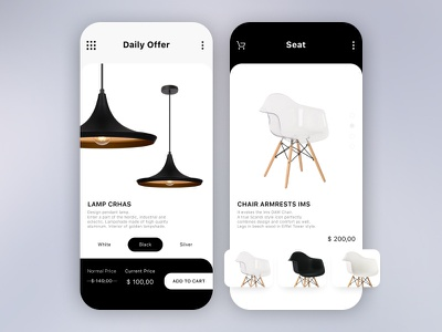 Forniture - Ecommerce App uiux design iu custom app gradient ui interaction ux