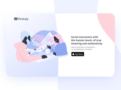 Pretzly Landing Page home web  design website iu custom app ux ui design interaction