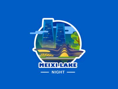 Meixi Lake International Culture Art Centre_Night