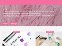 Pink blog theme