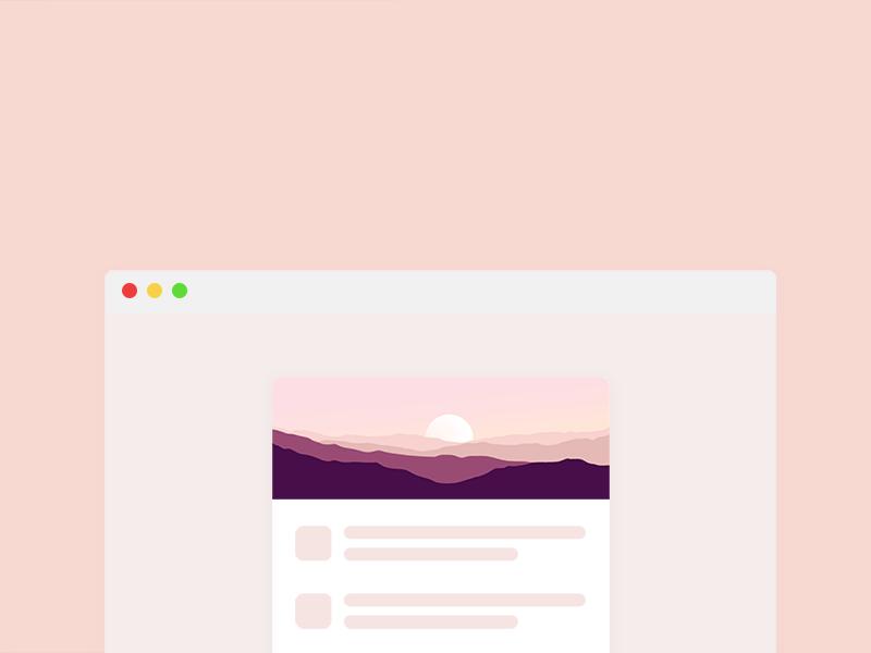 Landscape header idea web design window wireframe landscape illustration ui browser