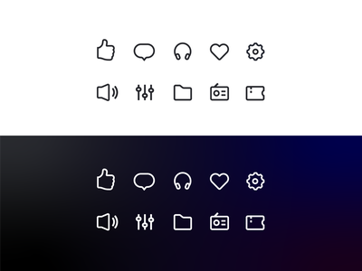 Music Icon Set illustration ui music app vector music icon design app