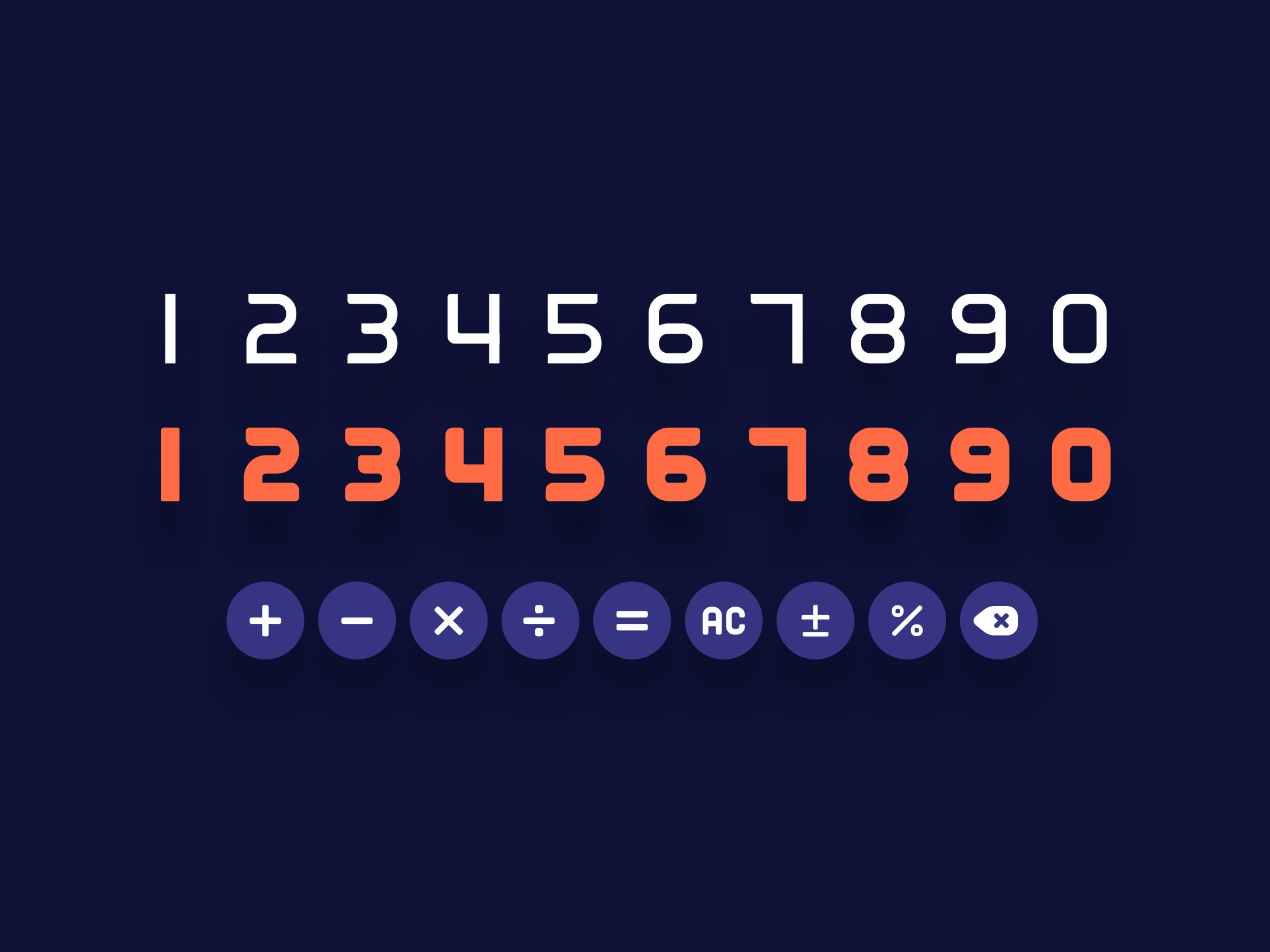 Number screen