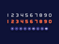 numerical font set symbol sign font number design daily ui 004 calculator vector ui typography