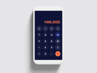 Calculator Interface number app vector typography icon daily ui 004 calculator ui design