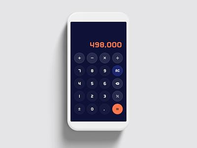 Calculator Interface number app vector typography icon daily ui 004 calculator ui design