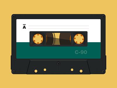 Cassette Tape Illustration music tape cassette tape cassette illustration vector