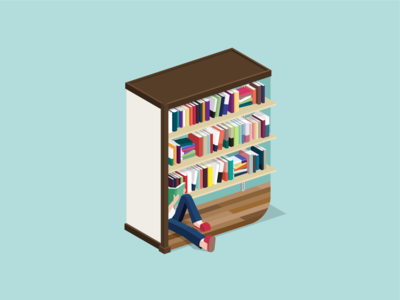 book-shelf illustration