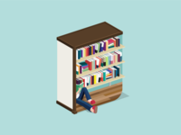 book-shelf illustration bookshelf vector illustrator book illustraion