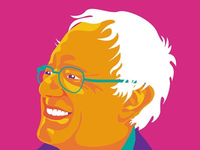 Welcome to the Political Revolution graphic design illustration bernie sanders digital illustration poster art poster design