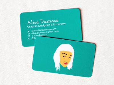 Alisa Damaso Business Cards print digital illustration illustration graphic design business card moo