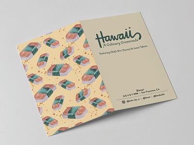 Hawaii: A Culinary Crossroads Menu hawaii spam musubi fun menu design