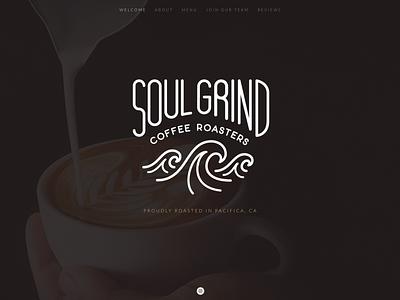 Soul Grind Coffee Roasters logo design branding graphic design lettering logo design