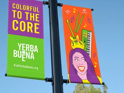 Branding Campaign for YBCBD branding yerba buena san francisco california digital illustration graphic design illustration