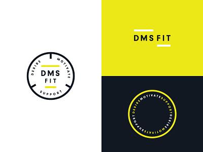 DMS Fit Logo energetic bright vivid training personal fitness visual identity fitness clean symbol brand identity minimal typography logo branding