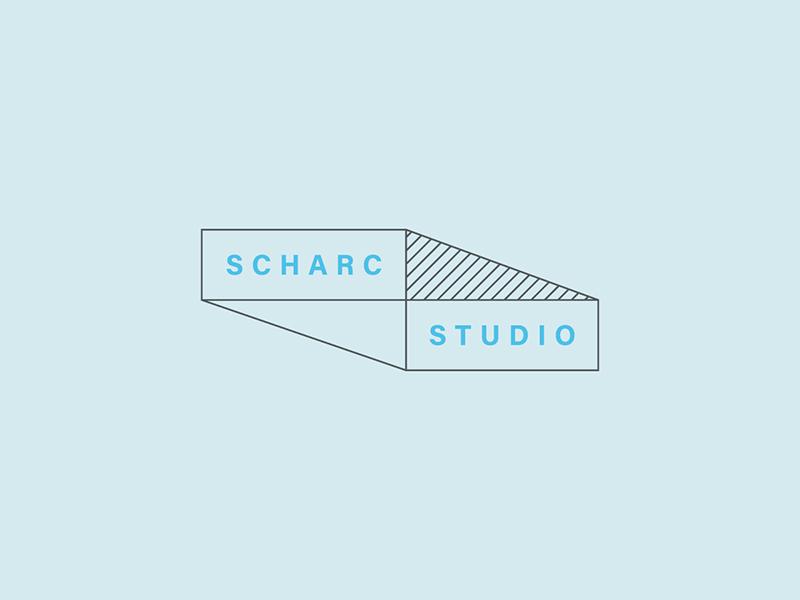 SCHARC Logo 2d 3d rectangle logopattern crosshatch interior design logo logodesign graphic design wordmark brand identity minimal branding logo interior design architecture logo architecture