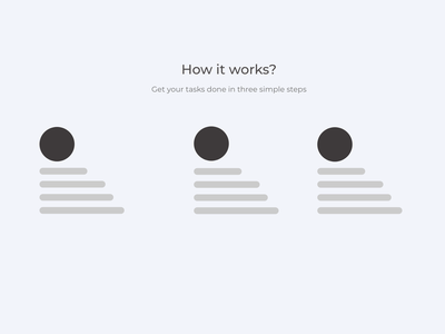 How it works - Wireframe vector ux wireframes userinterface concept adobexd