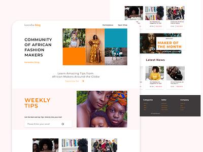 kareeba Blog blog african kareeba branding userinterface concept