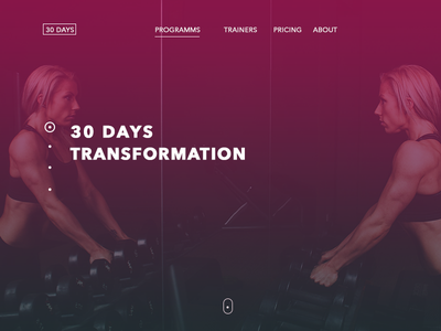 30days women photoshop design one page train gym
