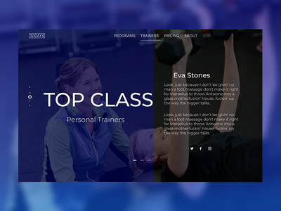 Personal Trainer single page website xd adobexd women photoshop design one page train gym