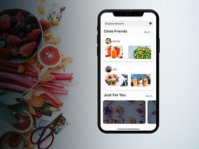 Food Stamp iphone xd adobexd people social app food and beverage food