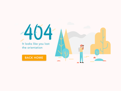 Lost 404   Page madewithadobexd adobe ux userinterface one page outsiders equipment travel outdoor concept branding ui xd design adobexd