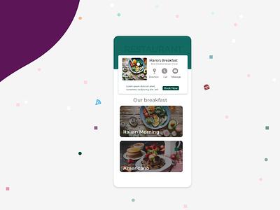 Restaurant Profile concept app photoshop branding italia italian food direction breakfast userprofile food app restaurant design xd design app adobe ux ui userinterface adobexd