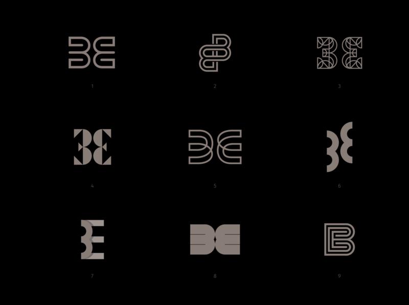 BE monograms hand lettering lettering simplistic logo modern logo clean logo logo designer logodesign monogram logo wordmark monograms monogram