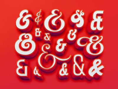 Collection of lettered ampersands logotype custom typography logo designer logo design hand lettering custom type handlettering lettering ampersand ampersands
