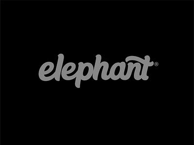 Elephant logo script logo custom type hand lettering lettering logodesign logo designer wordmark logo wordmarks wordmark logo